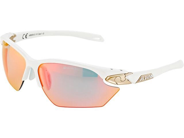 Alpina Twist Five HR S QVM+ Brille white matt-silver/rainbow mirror